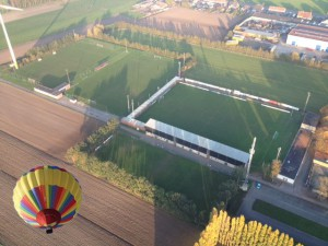 FCEM stadion vanuit de lucht