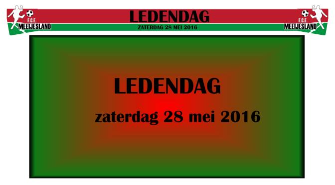 Ledendag 2016