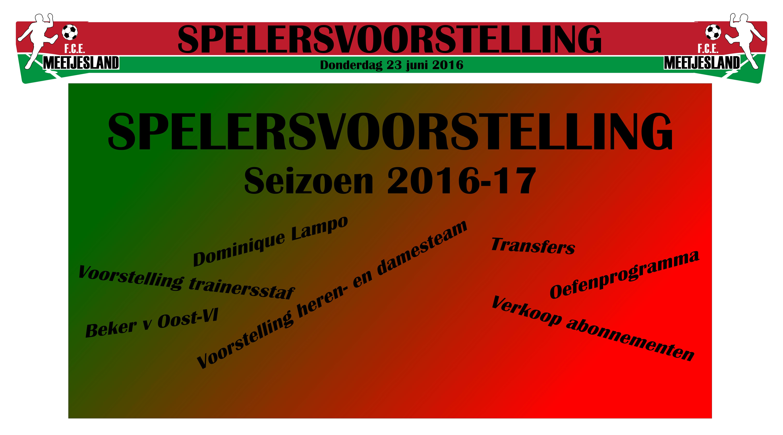 Spelersvoorstelling 2016-17